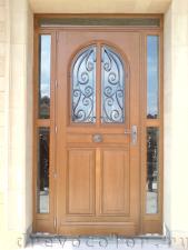 установка двери с импостами