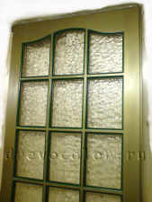 Окраска двери под бронзу