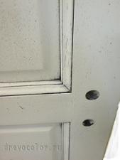 Патина и червячки на двери