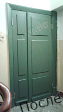 Входная Сталинская дверь реставрация