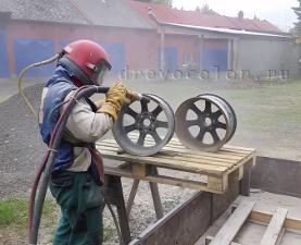 Пескоструйная обработка литых дисков
