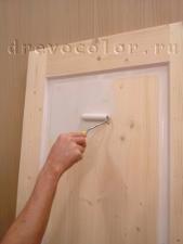 Покраска двери своими руками
