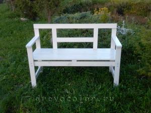 покрасить садовую скамейку