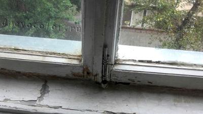 Сталинское окно до ремонта
