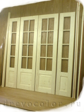 Сделать четырёхстворчатую дверь