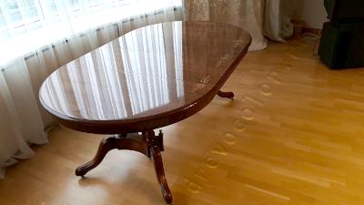 Реставрация овального столового стола