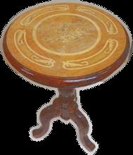 круглый столик до реставрации