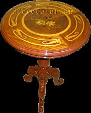Круглый столик после реставрации